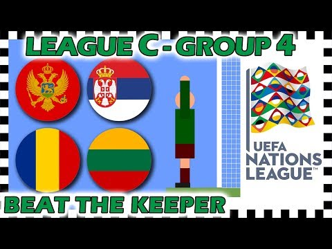 Marble Race - UEFA Nations League 2018/19 Prediction - League C - Group 4 - Algodoo