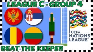 Marble Race - UEFA Nations League 2018/19 Prediction - League C - Group 4 - Algodoo