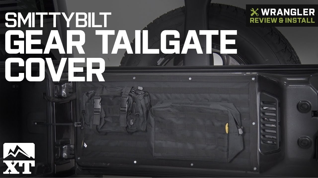 Smittybilt GEAR Tailgate Cover Overhead Console Green Jeep 07-17 Wrangler