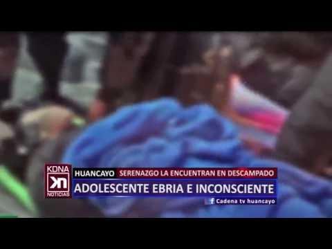 ADOLESCENTE EBRIA E INCONSCIENTE CADENA NOTICIAS