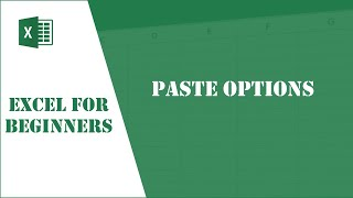 Excel Tutorial 13 - Paste Options