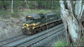 MickFix Rail - Australian Trains - Grain Train Failure At Warrenheip Bank (Tuesday 22nd Nov, 2011)