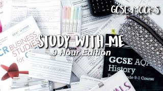 Study with me - GCSE Mocks | 9 Hour Edition!
