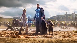 Avengers Infinity War Thor's New Weapon Scene Explained and Phase 4 Confirmed