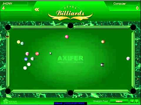 BILLIARDS STRAIGHT POOL GAME VS COMPUTER