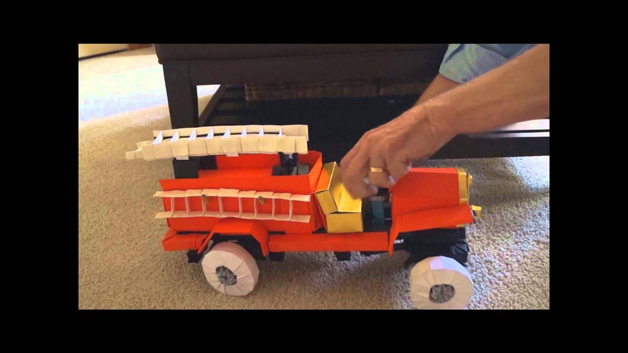 Origami Fire Truck