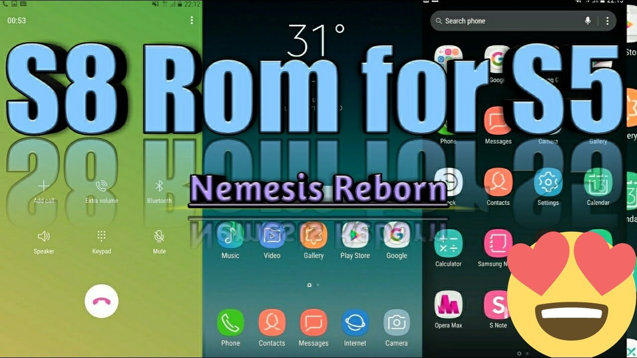 [NEW]Samsung galaxy S5 Nemesis Reborn Rom, Look Like S8 Quick Review+Link