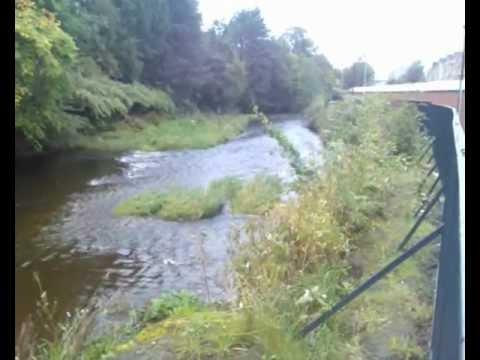 White Cart Water at Pollokshaws in Glasgow, Scotland