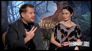"""""""Into the Woods"""" Stars Emily Blunt & James Corden Want to Act & Get Drunk on B'way Soon"""