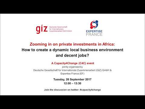 Capacity4Change (C4C): Zooming in on private investments in Africa