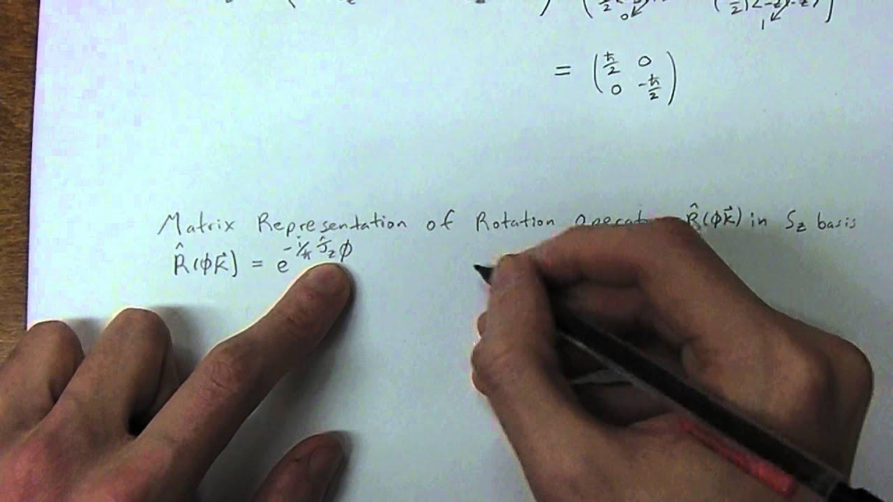 Quantum Physics 2 3 - Matrix Representation of Jz and Rotation Operator