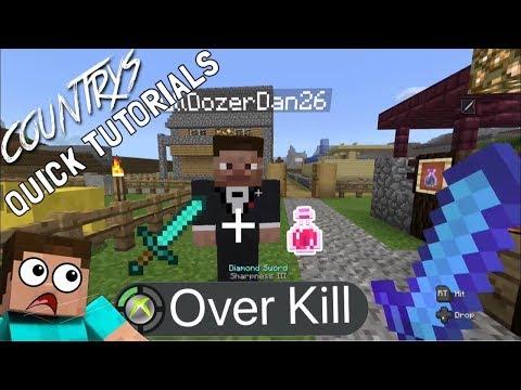 Minecraft Over Kill Achievement/trophy (Xbox One)