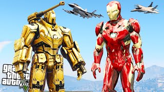 GTA 5 Mods : 4k IronMan & Hammer Drone! (GTA 5 Funny Moments)