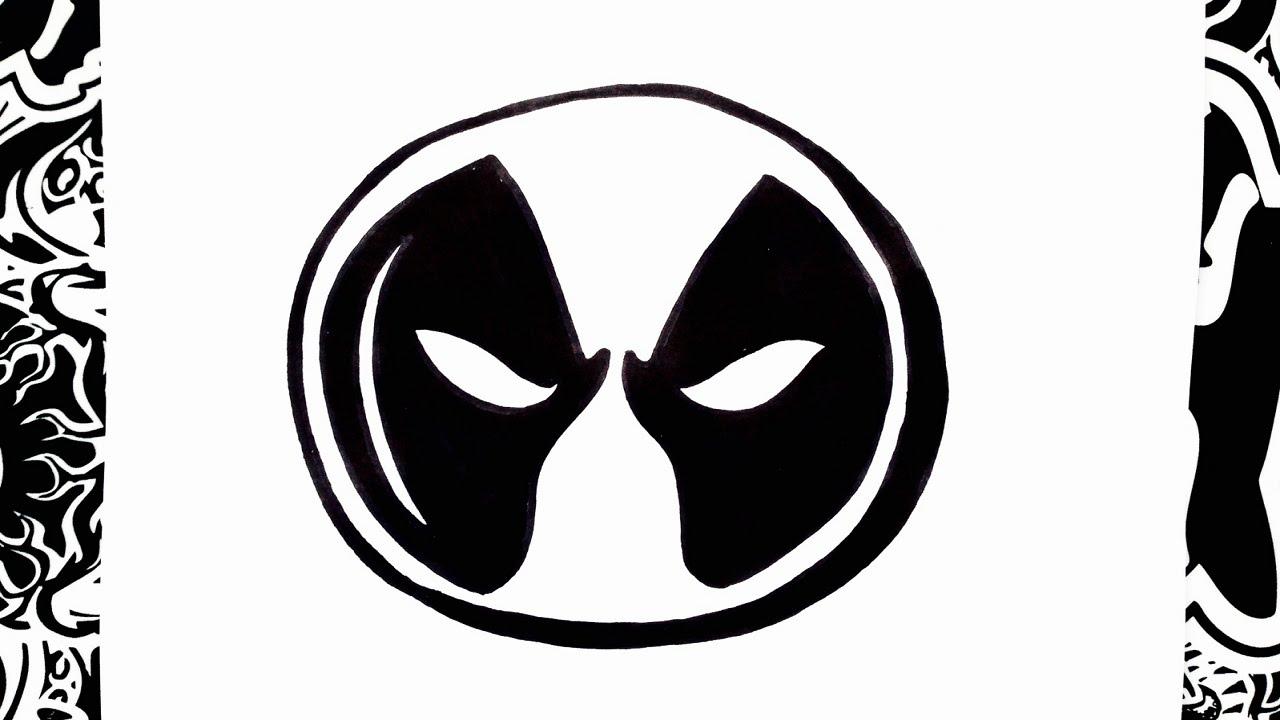 como dibujar el logo de deadpool | how to draw deadpool logo - YouTube
