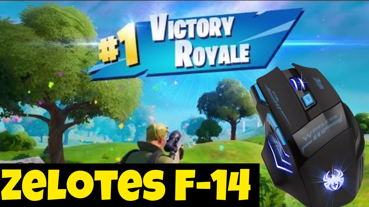 Zelotes F-14 Gaming Mouse Fortnite Gameplay!