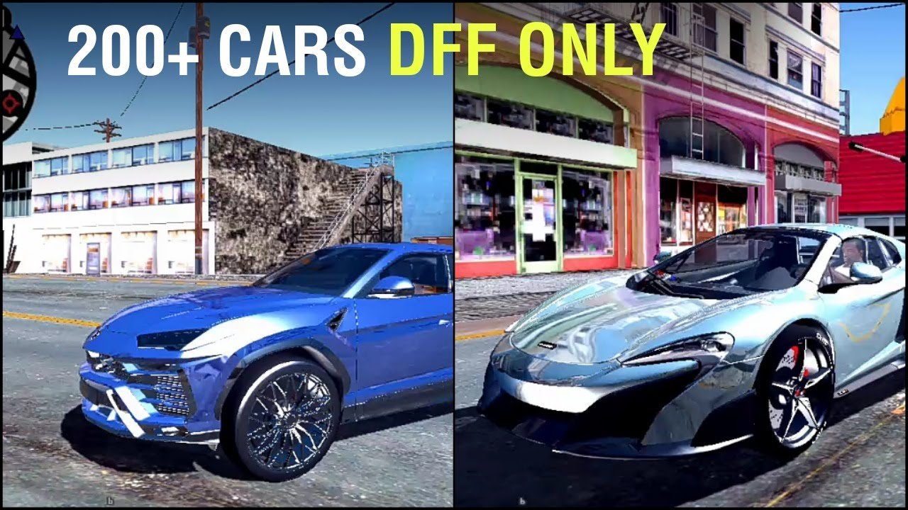 200 Cars Pack DFF ONLY - All cars bikes HQ - GTA SA Android