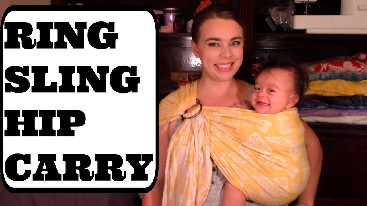 f118ea53451 HOW TO USE A RING SLING(Hip Carry) - YouTube