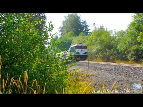 Amtrak Cascades rolling through Blaine, WA