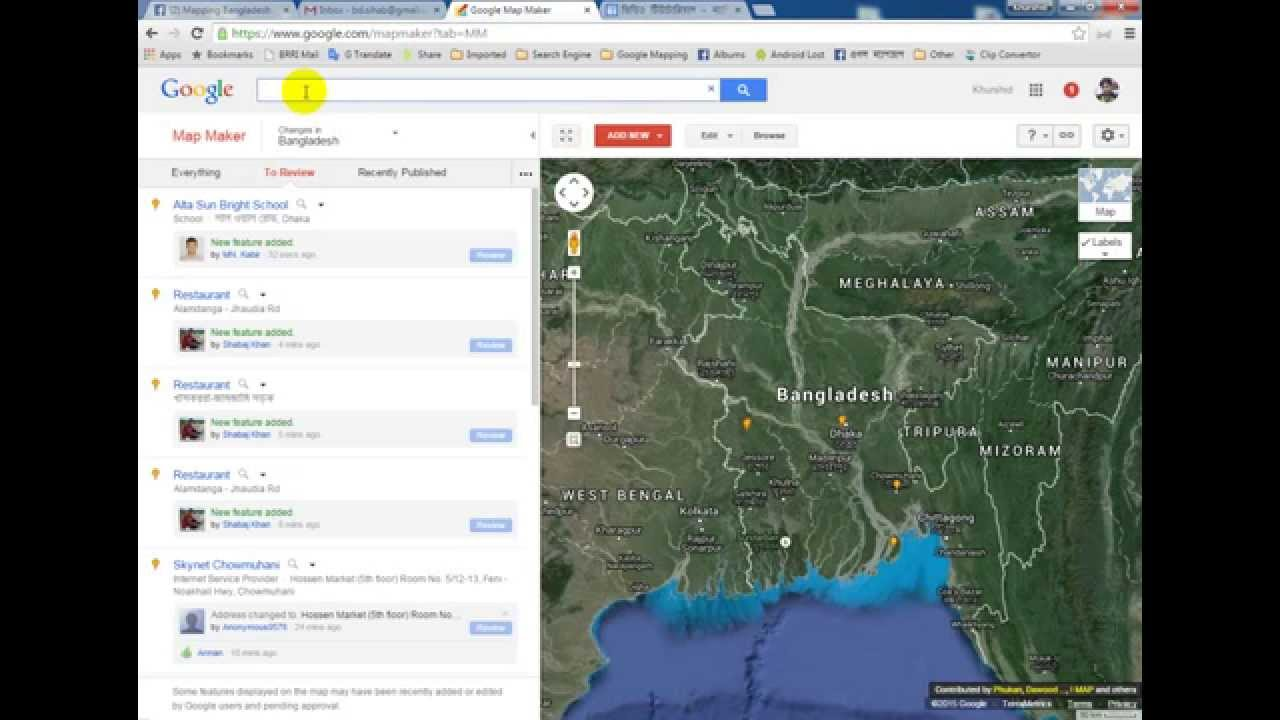 Add a place at Google Map