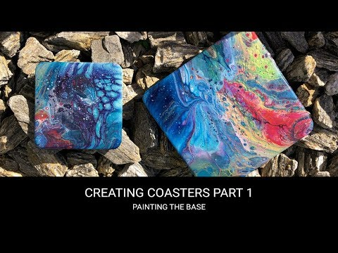 Resin coasters tutorial part 1/2 🔥🎨 Fluid/Pour/Abstract art fun!