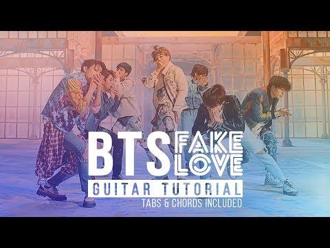 Fake Love - BTS 방탄소년단 | Guitar Beginners Lesson | Melody Chords ...