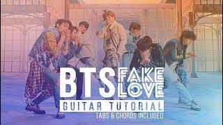 Gambar cover Fake Love - BTS 방탄소년단 | Guitar Beginners Lesson | Melody Chords Tutorial
