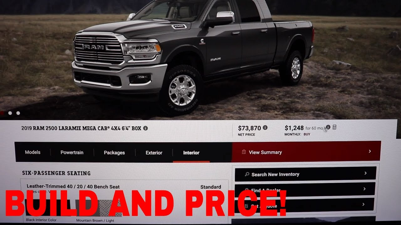 Ram Build And Price >> 2019 Ram 2500 Build And Price Feature