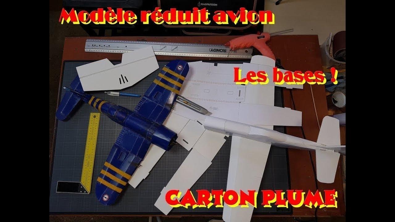 Modéles réduits avions Carton plume les bases - YouTube