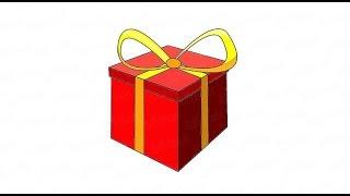 видео Как нарисовать подарок маме: пошаговая инструкция