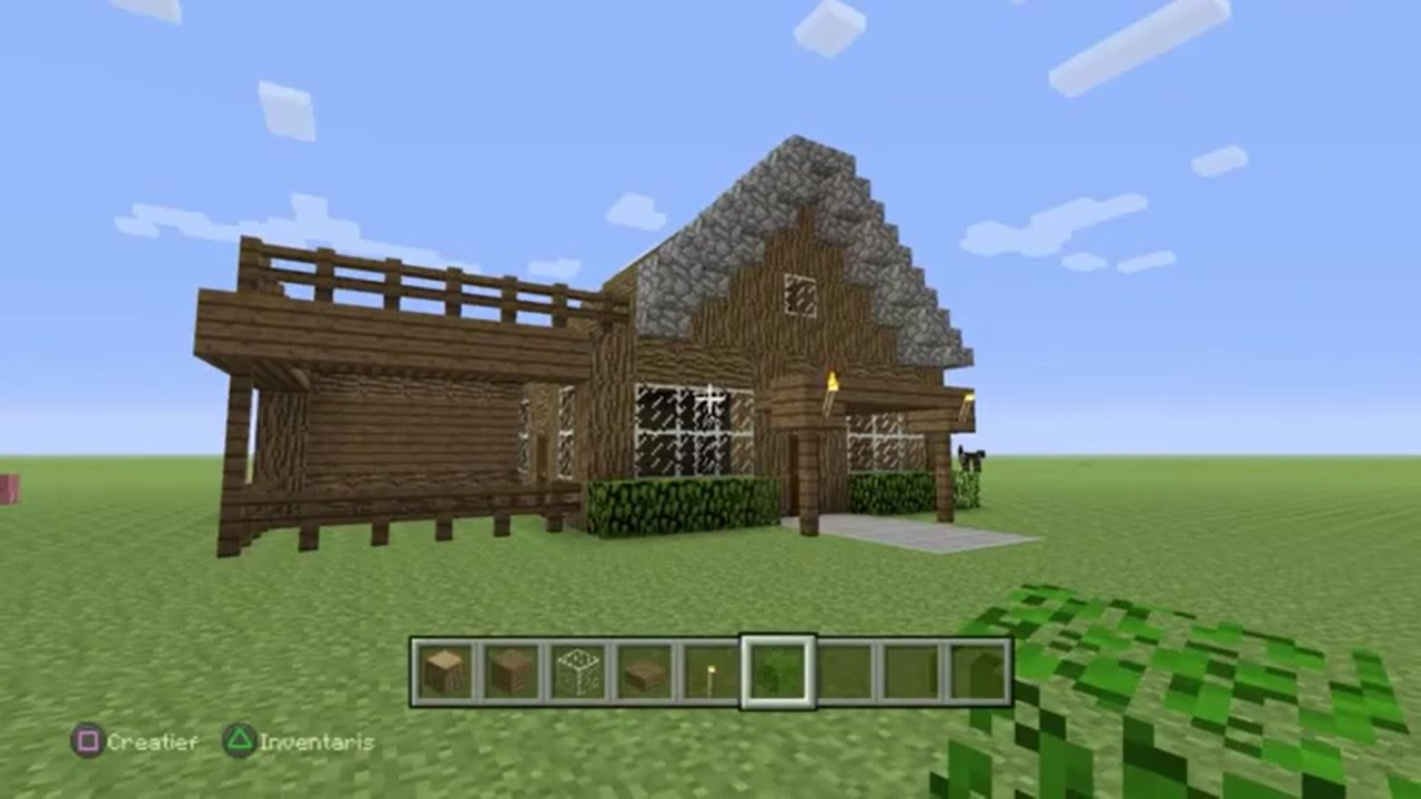 Minecraft tutorial hoe maak je een mooi beginners huis youtube - Tijdschriftenrek huis van de wereld ...