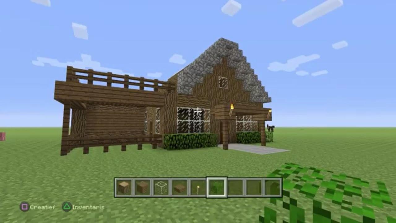 Minecraft tutorial hoe maak je een mooi beginners huis youtube - Mooi huis ...