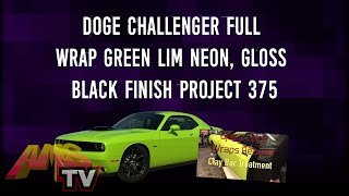 Doge Challenger full wrap green  lim neon, Gloss Black Finish project 375