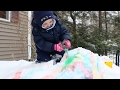 Learn Colors on SNOW Mountain - Owie Plays