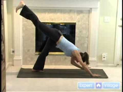 one legged one armed downward facing dog yoga pose  youtube