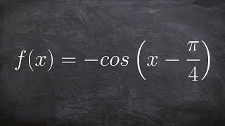 Graphing The Cosine Function With A Phase Shift