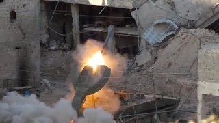 The experience of the first rocket from the Russian wagon UR-77 in Syria