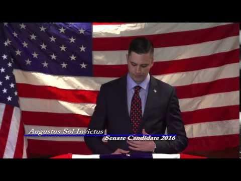 Augustus Invictus Announces His Candidacy for United States Senate