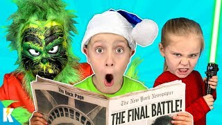 Home Alone with the GRINCH (Final Battle Escape Room!) KIDCITY