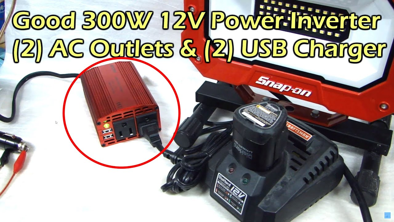 300 Watt Power Inverter With Dual Ac Outlet And Usb Charging 240v Receptacle Wiring 3 Plug Bestek