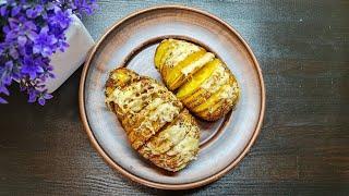 recipe potato Быстрый и легкий рецепт запеченной картошки 6