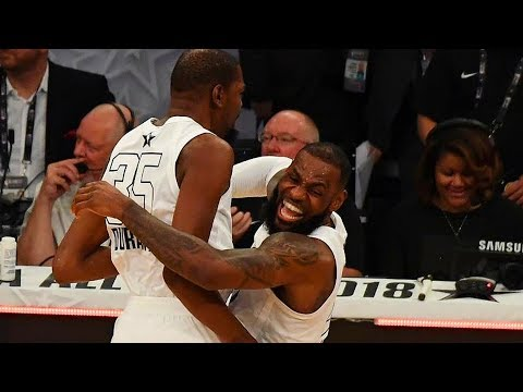 Best Plays of 2018 NBA All-Star Game - Team LeBron vs Team Stephen