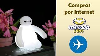 Experiencia Envío Internacional Mercado Libre  Unboxing Andquotlampara De Luz Baymax Recargable Luz Ledandquot
