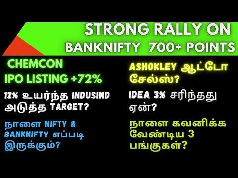STRONG RALLY ON BANKNIFTY - 700+ POINTS?| Tamil | Share | Banknifty | Aliceblue | Zerodha | CTA