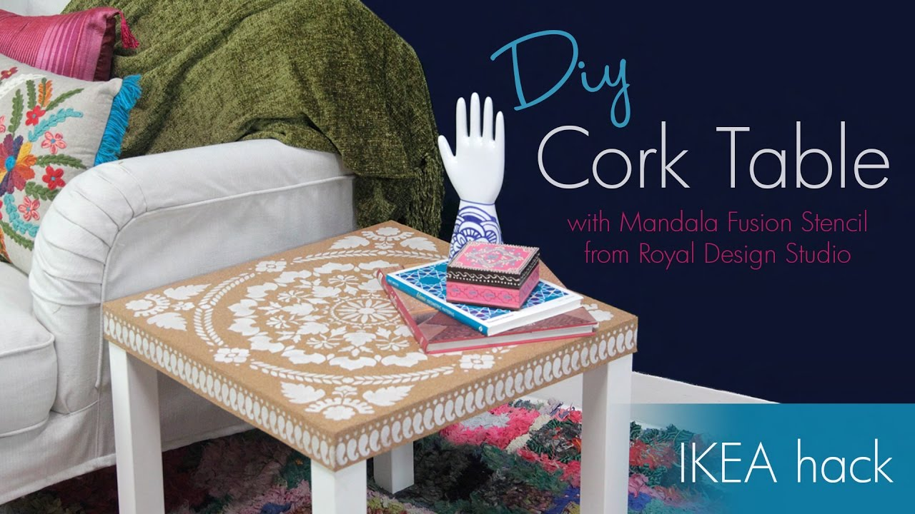 Royal Design Diy Ikea Hack How To Stencil Furniture With Cork Sheets And Annie Sloan Chalk Paint