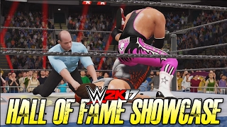 WWE 2K17 Hall of Fame Showcase - STING vs BRET HART!! (WWE 2K17 2K Showcase DLC)