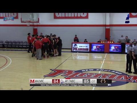 NECC Men's Basketball Semifinals #1 NEC vs #4 Mitchell College