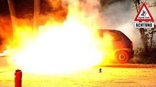 Reifenpanne extrem - Reifen platzt | Dumm Tüch