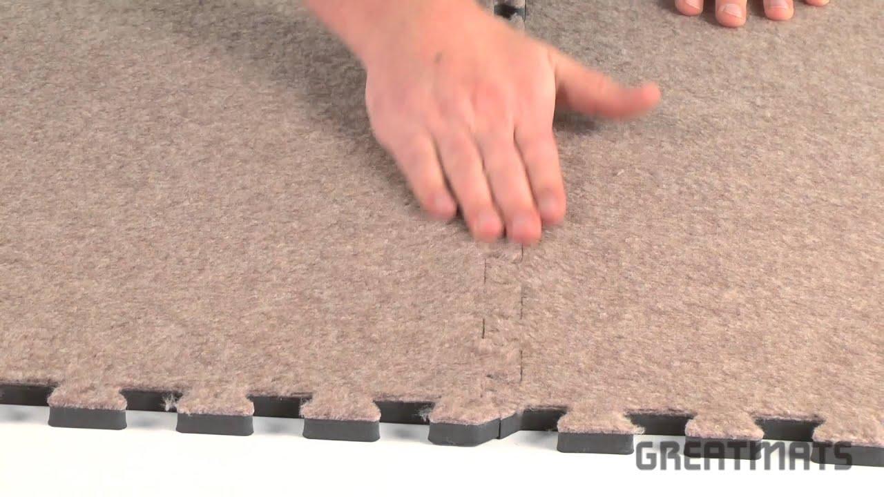 Basement Carpeting - Royal Interlocking Carpet Tiles - YouTube