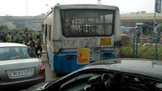 Road Accident Near Haldiram On Bypass Newtown Road This Morning 04/12/2014