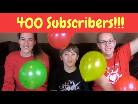 400 Subscribers!!!!